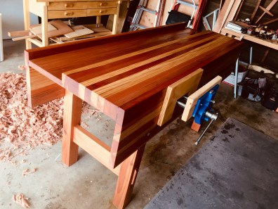 Here it is! Clear redwood with Boiled Linseed Oil as the finish. Just a few more customizations and its completely finished.