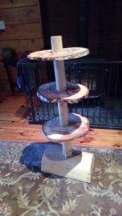 Maple leg and birch Rounds tiered table