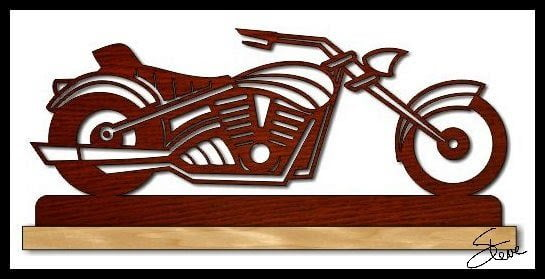 motorcycle made by scroll saw