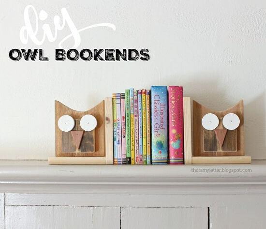 DIY Owl Bookends Tutorial