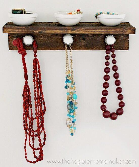 DIY Rustic Wood Jewelry Organizer Guide