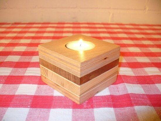 Scrap Wood Candle Holder DIY Guide