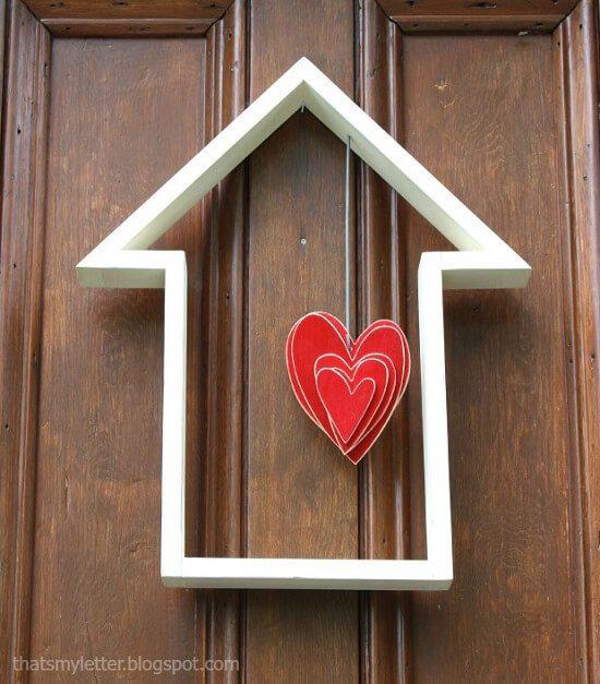 House-Shaped Door Decor Tutorial