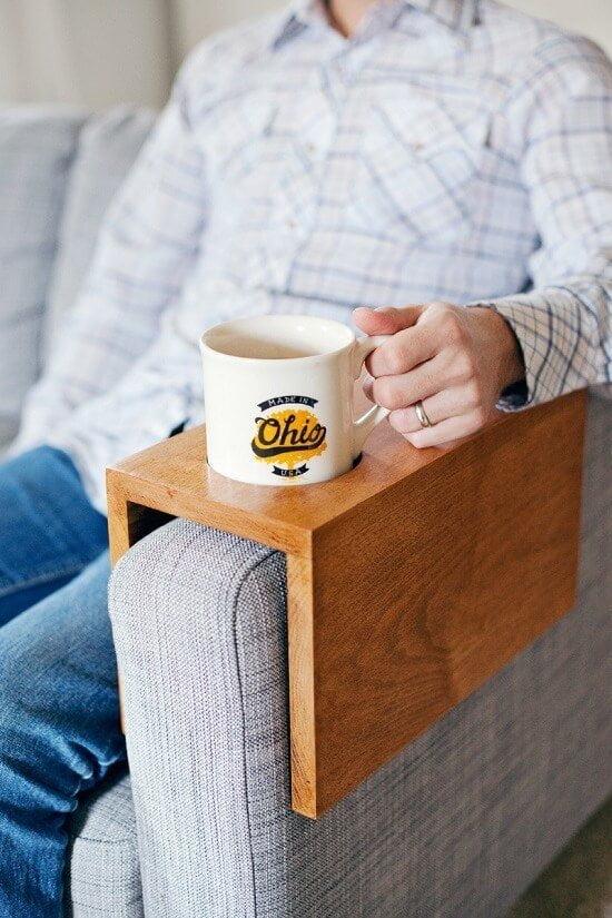 Wooden Sofa Sleeve & Cup Holder DIY Tutorial