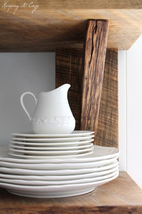 Kitchen Shelves from Scrap Wood DIY Guide