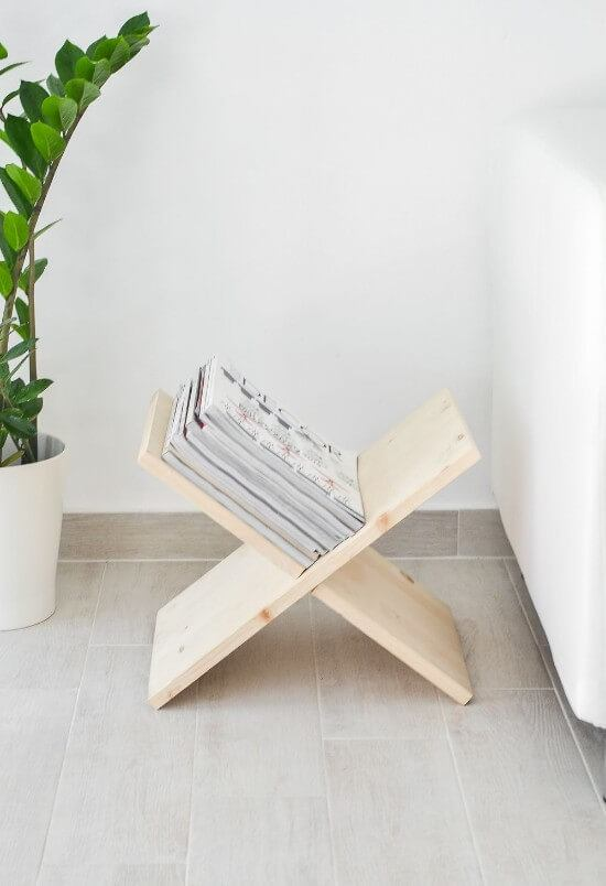 Free DIY Magazine Holder Tutorial