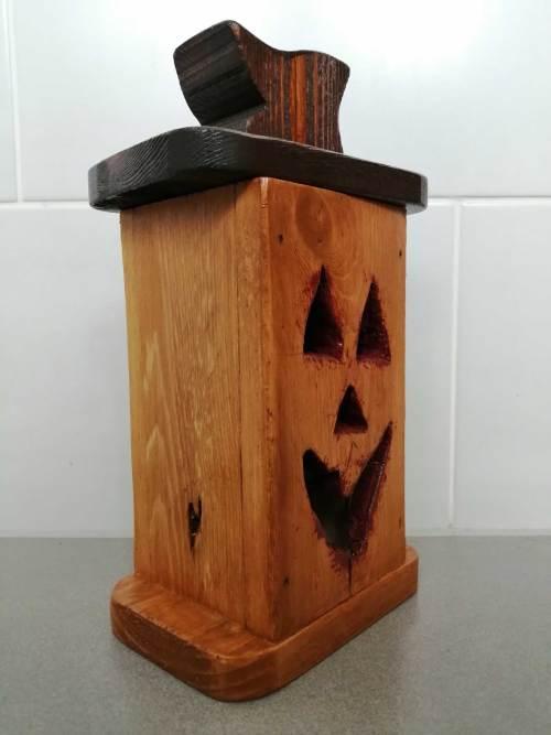 Wooden Jack O'Lantern