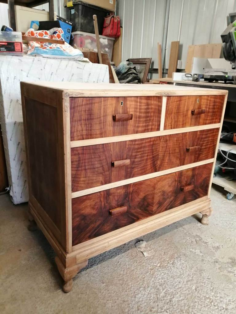 Upcycled chest of drawers - Sanded with oiled drawers