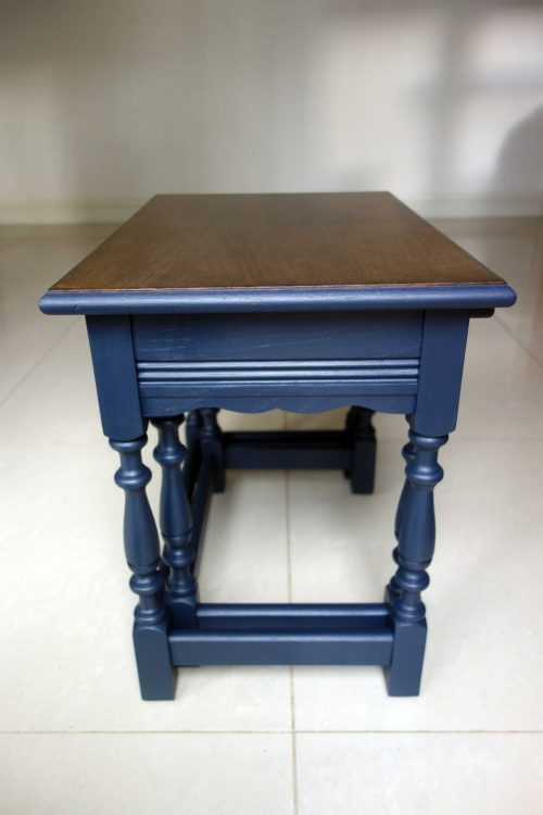 Upcycled nest of tables - Side view
