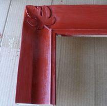 Frame sealed with one coat of burnisher/sealer