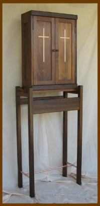 Cabinet on Stand: Walnut