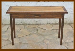 Hall Table: Walnut & Zebrawood