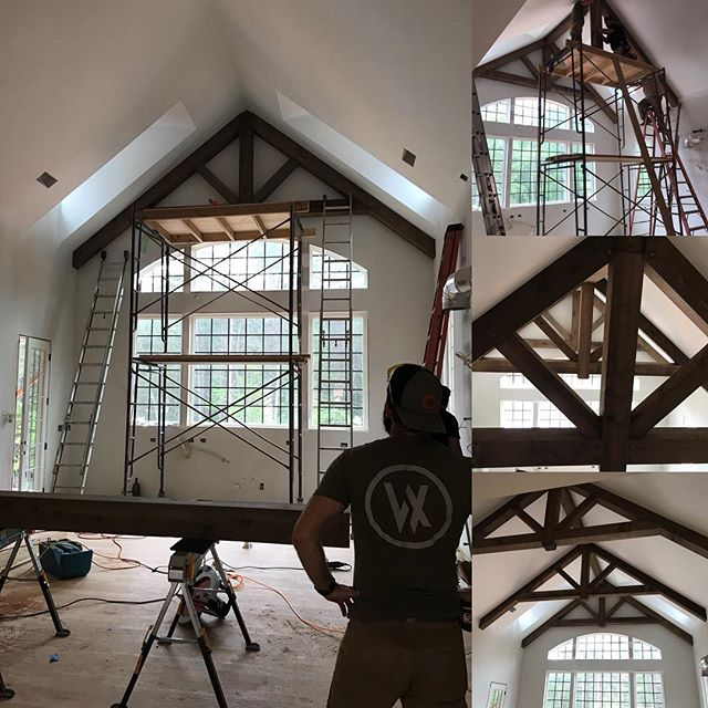 8×8 Timber trusses for a new kitchen