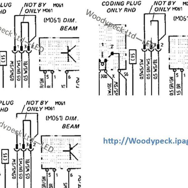 1987 1988 dim dip coding plug wiring diagrams cree led. Black Bedroom Furniture Sets. Home Design Ideas