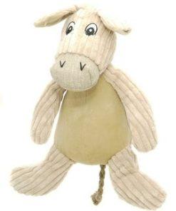 Doris The Donkey '15' Natural Donkey Dog Toy