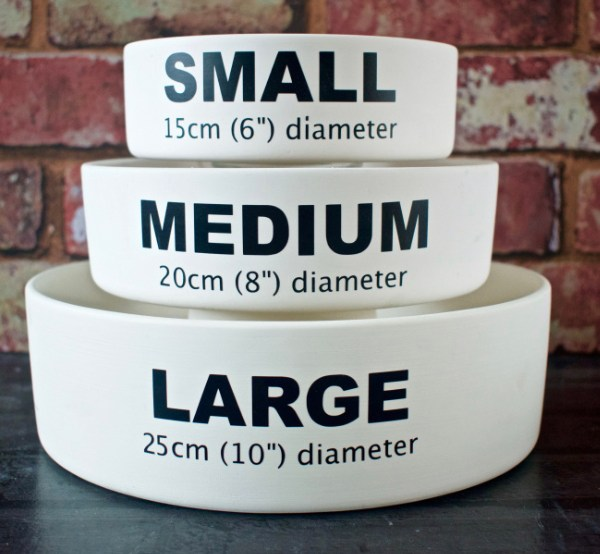 Dog Bowls different sizes