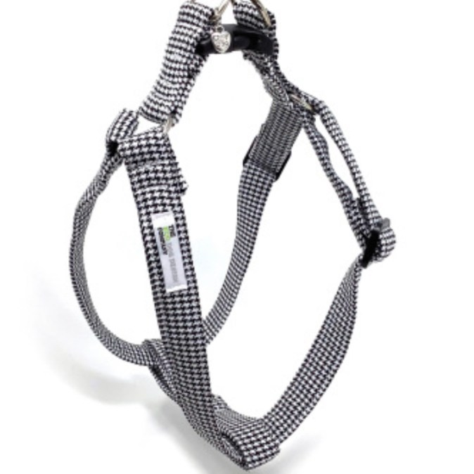 Black And White Dog Harness