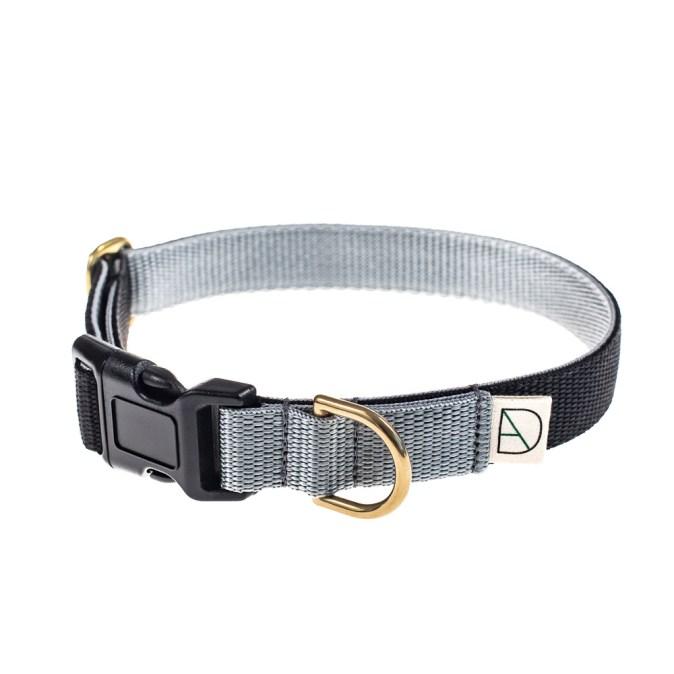 Black and Grey Dog Collar