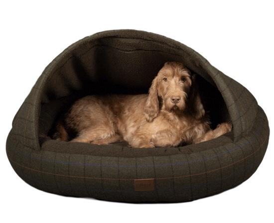 Handmade Deluxe Dog Cave Bed – Tweed