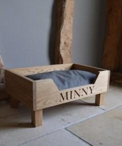 Handmade Oak Dog Bed