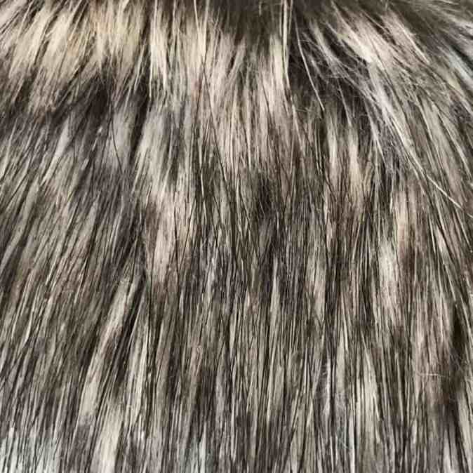 Timber Wolf Faux Fur Dog Blanket