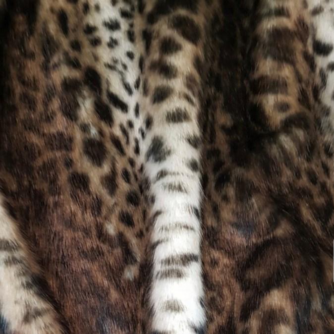 New Ocelot Faux Fur Throw