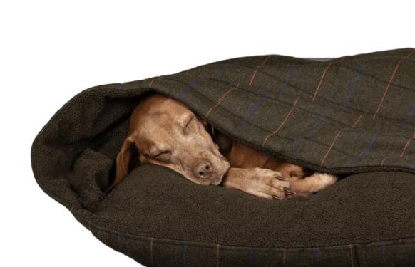 Luxury Tweed Snuggle Sack Dog Bed