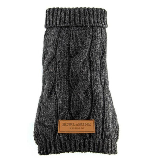 Graphite Dog Sweater Aspen