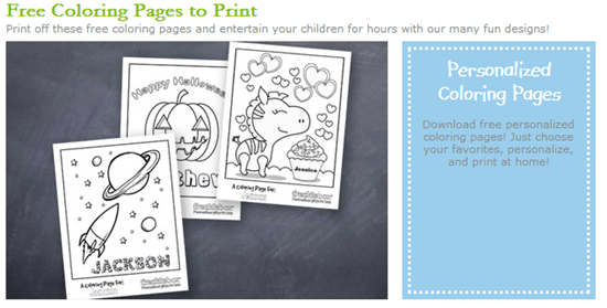 Free Personalized Coloring Sheets And Valentines Day