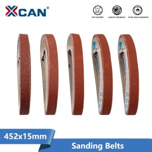 XCAN Sanding Belts Sander 60/120/240/400/600 Sanding Belt 10pcs For Belt Sander Adapter Polishing Machine Abrasive Tools