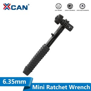 XCAN Mini Rapid Ratchet Wrench 6.35mm Quick Release Professional Hand Tools Rini Ratchet Tools
