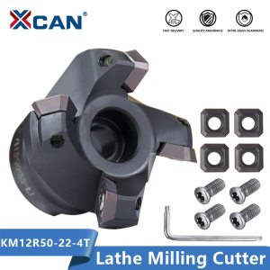 XCAN KM12R50-22-4T Carbide Insert Clamped Face Mill CNC Lathe Milling Cutter