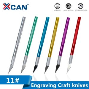 XCAN #11 Non-Slip Metal Scalpel Knife Kit Cutter Engraving Craft knives with 5pcs Blades Mobile Phone PCB DIY Repair Hand Tools