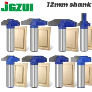 1 pc 12mm Shank Woodworking Door Frame Router Bits for wood carbide lassical door cabinet bits Engraving Milling Cutte