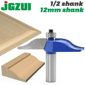 "12 Shank1/2"" shank Round Over Rail & Stile with Cove Panel Raiser 1Bit Router Bit Set Tenon Cutter for Woodworking Tools"