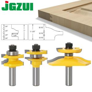 "3pcs 1/2"" Shank Rail & Stile Ogee Blade Cutter Panel Raised Cabinet Router Bit Set Door Tenon Woodworking Tools"