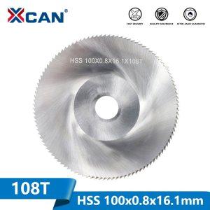 XCAN 1 Piece Diameter 100mm Teeth 108 Z High Speed Steel Saw Blade Woodworking Saw Blade Metal Cutting Slitting Saw Blade