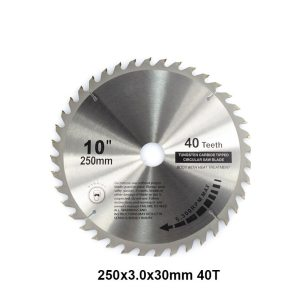 XCAN 1pc 250mm 40T High Quality Carbide Woodworking Saw Blade with 30mm Bore Wood Cutting Disc TCT Circular Saw Blade