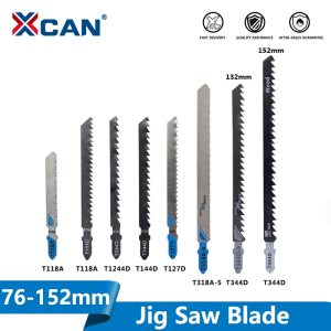 XCAN T Shank Saw Blade 5pcs T111C T118A T127D T144D T244D T318A T344D High Carbon Steel Jig Saw Blade for Wood/Metal Cutting