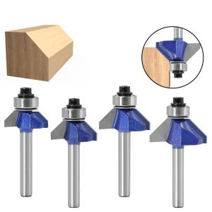 1pc 1/4 Shank 45 Degree Chamfer Router Bit The high quality Edge Forming Bevel Woodworking Milling Cutter for Wood Bits