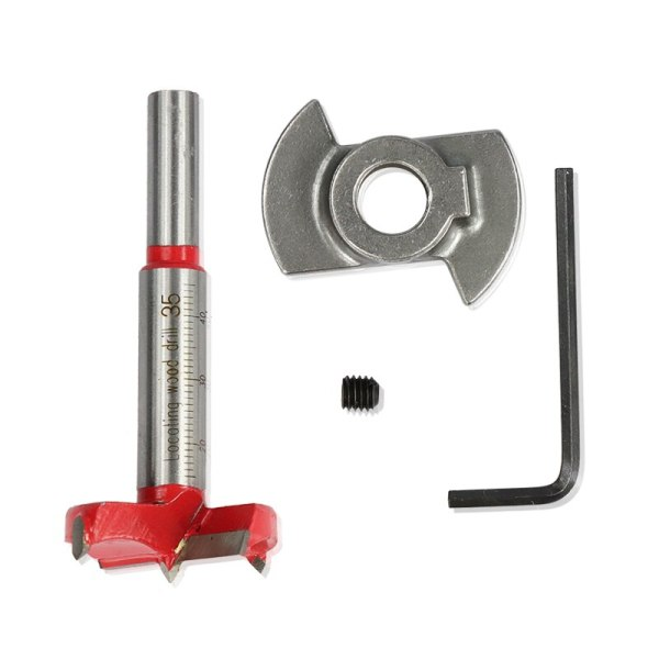 XCAN Adjustable Carbide Drill Bits 1 Piece Diameter 35mm Hinge Hole Opener Boring Bit Tipped Drilling Tool Woodworking Cutter