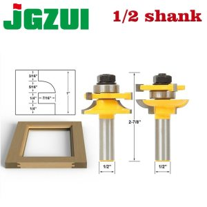 "1/2"" 12mm Shank Rail & Stile Router Bit Quarter-round door knife Woodworking cutter Tenon Cutter for Woodworking Tools"