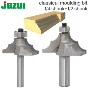 "1pc 1/2""1/4 Shank Classical Moulding Edging Router Bits For Wood Tungsten Carbide Woodworking Trimming R chamfering Endmill"