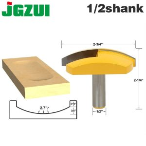 "1pc 1/2"" Shank 12mm shank Large Bowl Router Bit - 2.7"" Radius - 2-3/4"" Wide For Woodworking Cutting Tool"