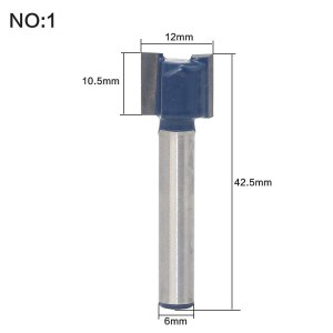 """1 pc Straight/Dado Router Bit - 3/4""""W x 3/4""""H - 6"""" Shank Woodworking cutter Wood Cutting Tool"""
