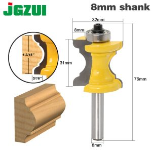 New 1PC 8mm Shank Bullnose Bead Column Face Molding Router Bit For Woodworking Tools