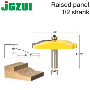 "1pc 1/2"" 12mm Shank Raised Panel Router Bit - Ogee Door - Large Diameter Woodworking cutter Tenon Cutter for Woodworking Tools"