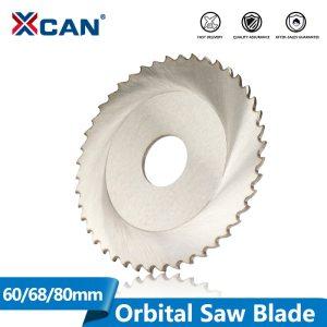 XCAN 1pc Diameter 63/68/80mm 44/64/72/80T HSS M35 Circular Saw Blade Stainless Steel Pipe Tube Cutting Orbital Saw Blade