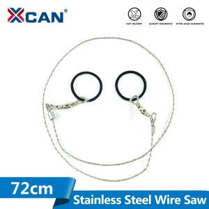 XCAN 1pc 72cm Mini Stainless Steel Wire Saw Camping Saws Emergency Survival Gear Steel Wire Kits Pockets Saw Mini Saw