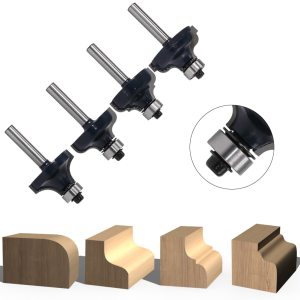 1PC 6mm Shank Ogee Edging wood router bit Straight end mill trimmer cleaning flush trim corne